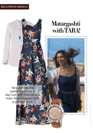 Tamasha Look:Maxi Dress and a Printed Shirt