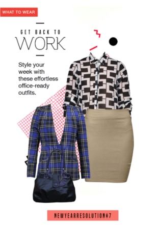 Office Shirt and Skirt