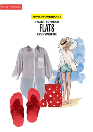 I want to wear Flats everywhere
