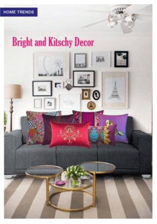 Bright and kitschy Decor
