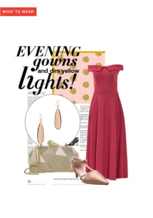 Evening gowns and dim yellow lights!