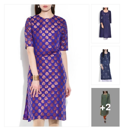 Trending Now: Indigo Kurtas . Online shopping look by Diya