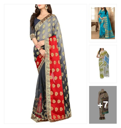 Shine like a celebrity in these Bollywood Sarees. Online shopping look by Shruti