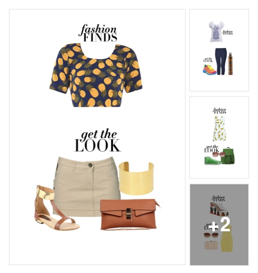 #HowToWear Pineapple Print. Online shopping look by Soheni