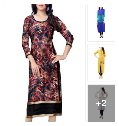 Lavish Libas Kurtis For a Terrific Traditional Look . Online shopping look by Sanchayika
