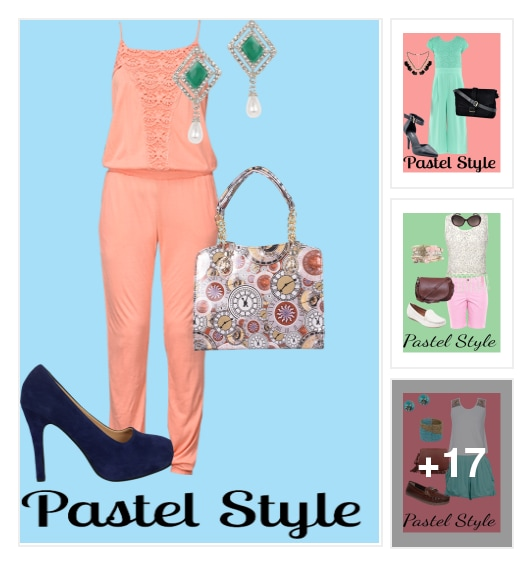 Pastel Looks for this Season. Online shopping look by Darshu