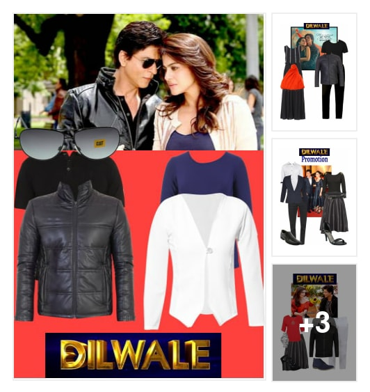 Gorgeous Kajol & Shahrukh's Dilwaale Looks..<3. Online shopping look by Darshu