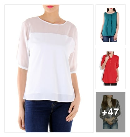 50 office ready tops & dress for that very first impression. Online shopping look by pratiti