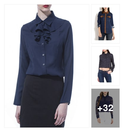 35 Impressive Indigo Shirts For Spot On Style. Online shopping look by greeta