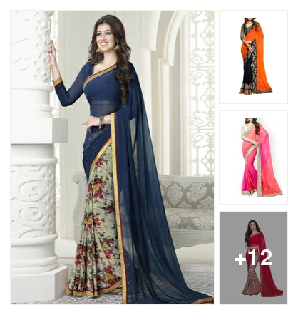 15 Adorable Sarees Under Rs 1000. Online shopping look by Garima