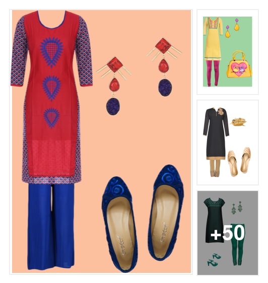 Kurta Style. Online shopping look by Sri