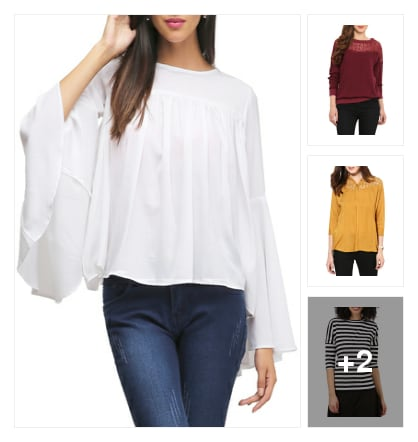 5 Trendiest College Tops for Girls With Style. Online shopping look by Sanchayika