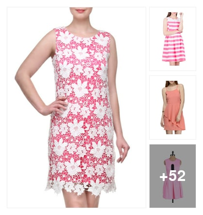 56 Prettiest Pink Dresses Under 999!. Online shopping look by greeta