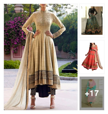 20 Designer Suits On A Budget For The Festival Season. Online shopping look by Swati