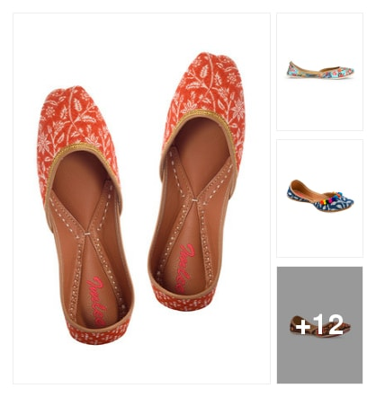 15 Beautiful Handcrafted Mojaris Designed To Please!. Online shopping look by Neha