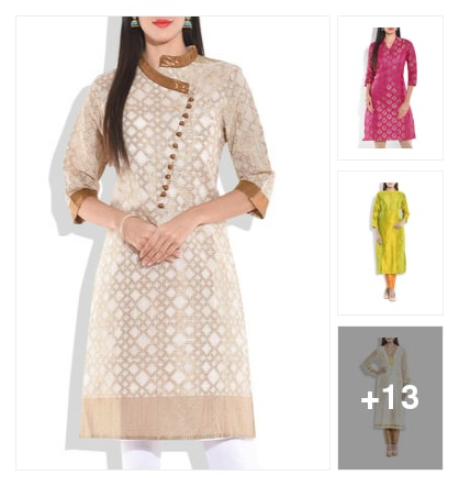 16 Luxurious Silk Kurtas To Steal The Show. Online shopping look by greeta