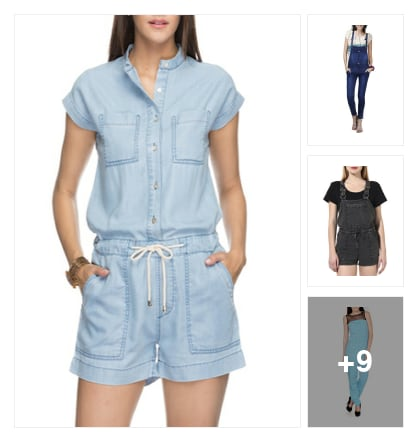 12 Dungarees You Need To Own This Season. Online shopping look by Garima