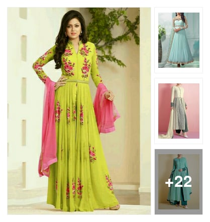 25 Drool-Worthy Anarkali Suits!. Online shopping look by Neha