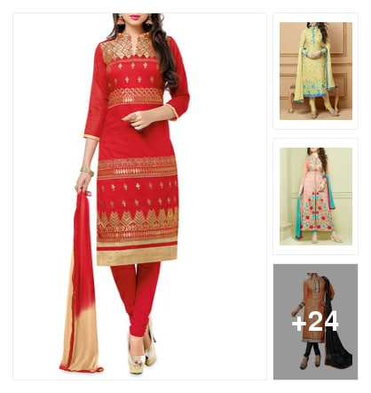 27 Chanderi Suits For The Festive Season!. Online shopping look by Neha