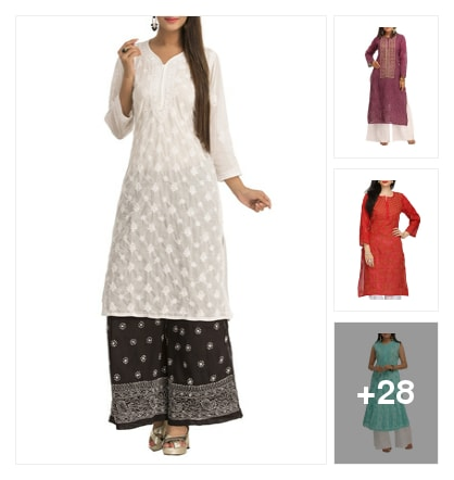 Timeless Grace Of Chikankari. Online shopping look by Sheetal