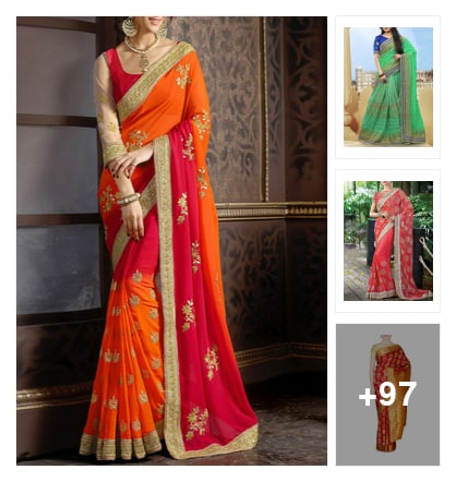 100 Prettiest Festive Sarees You Can't Let Go!. Online shopping look by Neha