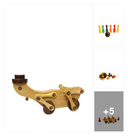 Wooden Toys . Online shopping look by ShruthiVinay​