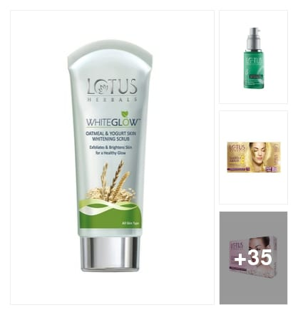 Worth Buy Skin Care Products!!: Lotus. Online shopping look by krishnaveni Saranya