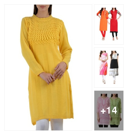 woolen kurtas. Online shopping look by anitha