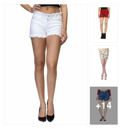 Summer shorts for sexy girl. Online shopping look by suman
