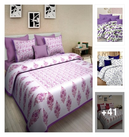 Jaipur Cotton Bedsheets. Online shopping look by abi