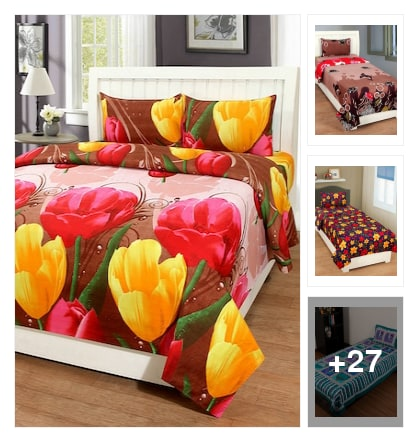 #beautiful bedsheets. Online shopping look by Kriti