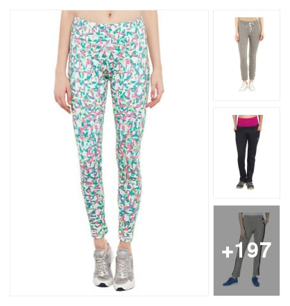 200 colorful track pants. Online shopping look by Padmini