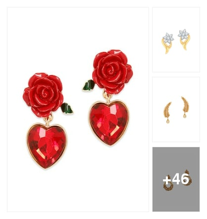 Beautiful Earrings For Beautiful Ladies. Online shopping look by Neela