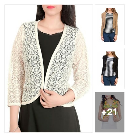 Capes And shrugs Collotions. Online shopping look by Surendra