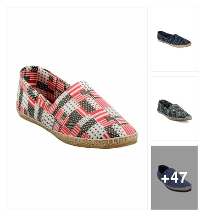 Multicoloured Fabric Printed Espadrilles. Online shopping look by arundhathi