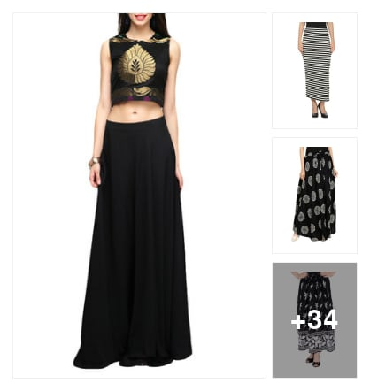 LONG SKITS. Online shopping look by sudha