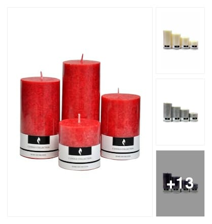 candles. Online shopping look by veda