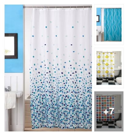 Super shower curtains. Online shopping look by venkat