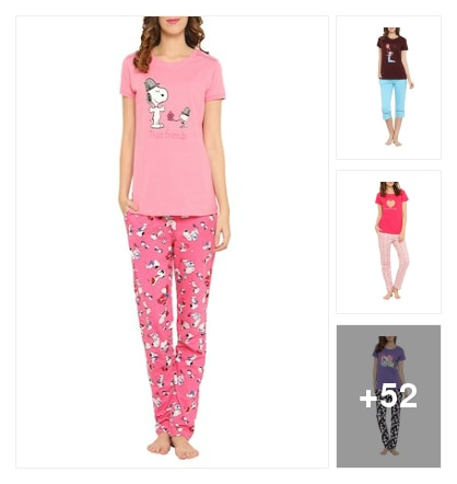 Chiclook nightwear by Valentine. Online shopping look by Mahira