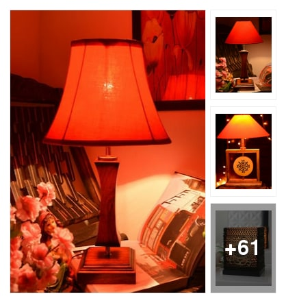 Beautiful dream come ur table lamps . Online shopping look by kalpana