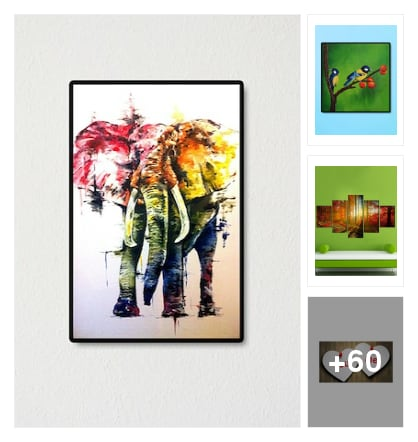 Printed frame wall art . Online shopping look by konda