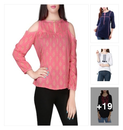 new collections of tops...... Online shopping look by jayeetri