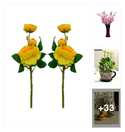 EXTREMELY GOOD  VASES;FLOWERS FOR HAPPY HOME. Online shopping look by Mamatha