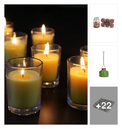 Candles also selling in limeroad. Online shopping look by abi