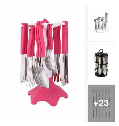 Cutlery. Online shopping look by meenu