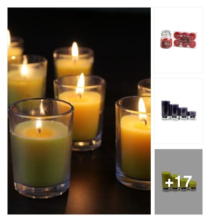 Candles . Online shopping look by veda