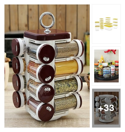 Must have kitchen storage tools for beautiful kitchens. Online shopping look by kavita