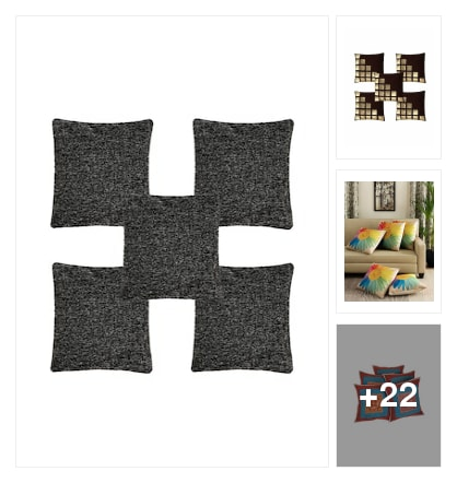 Cushions and throws for you. Online shopping look by keerthi