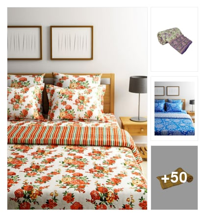 Cotton bedsheets. Online shopping look by jinglejingle