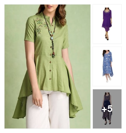 Asymmetric Kurt's trend. Online shopping look by Sheetal